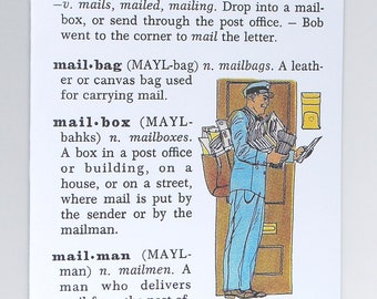 mailman card - definition from vintage dictionary