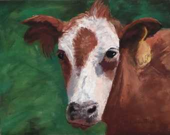 Pastel Painting of Cow