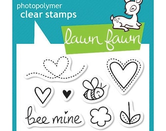 Lawn Fawn - Clear Acrylic Stamps - Bee Mine