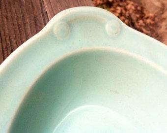 Lu Ray Pastels Aqua Blue Serving Bowl TS & T Cottage Chic epsteam