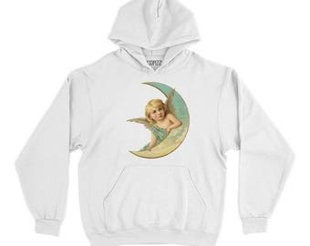 Angel On The Moon Hoodie