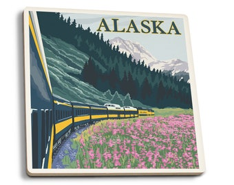 AK - AK Railroad - LP Artwork (Set of 4 Ceramic Coasters)