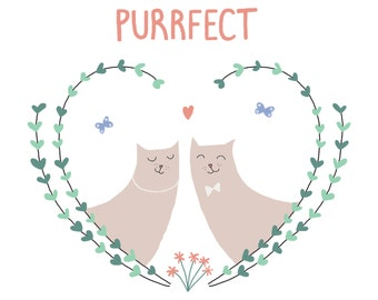 Purrfect Love Cats Birthday & Just Because Card