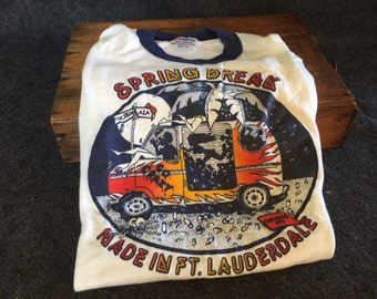 RARE Vintage 1982 Spring Break movie T-shirt from actress