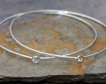 Bali Sterling Silver Hoops 35mm 1 Pair