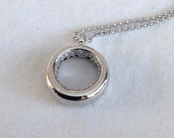 Unique Silver Pendant necklace, Silver Statement necklace, Long pendant necklace, Mothers Day gift, long silver necklace, mom gift