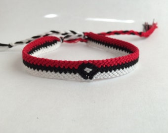 Pokeball Pokemon Friendship Bracelet