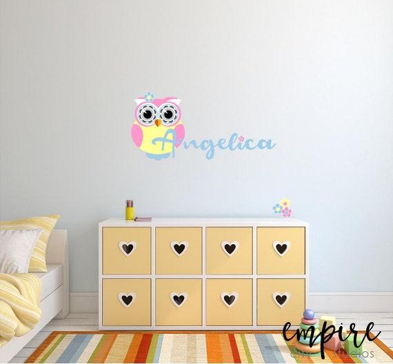 Pink Owl with Custom Name