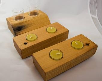 Reclaimed Douglas Fir Solid Wood Votive/Tealight Holder