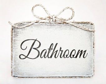 Cute handmade wooden bathroom door sign - Bathroom / Home Decor / Door Decor / Bathroom Decor