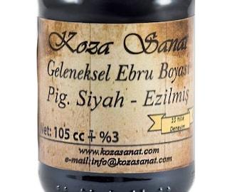 Ebru Marbling Paint Colors-Pigment Black 105cc (Koza)