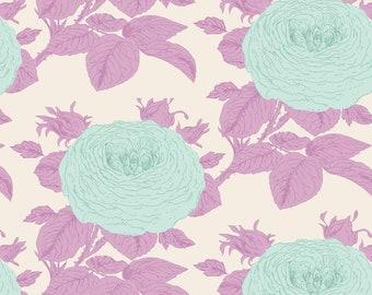 TILDA Sunkiss Fabric Collection 1 Yard Grandma Rose in Lilac