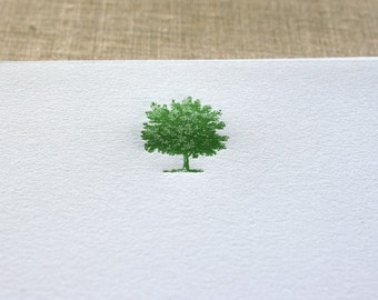 Cotton Writing Paper with Letterpress Tree