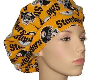 Scrub Hats - Pittsburgh Steelers Fabric