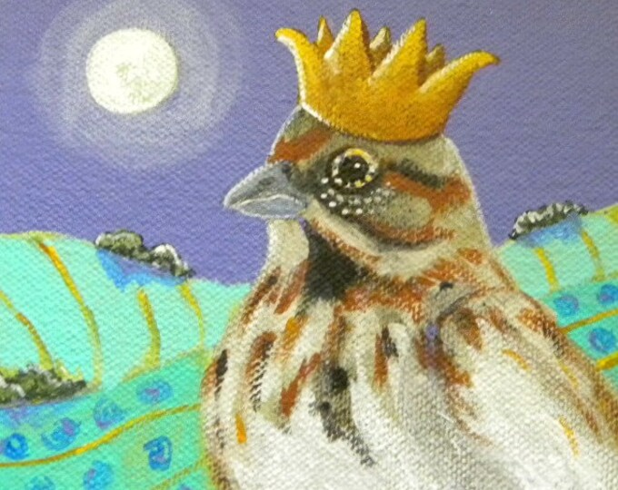 Sparrow Prince blank greeting card