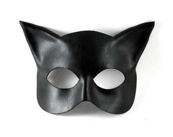 Leather Cat / Kitten Mask