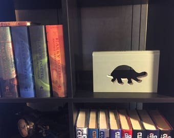 Turtle silhouette cut in a book!