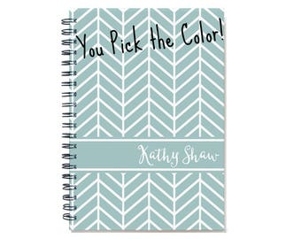 2018 2019 2 Year Weekly Planner, 2018 Personalized 24 Month Calendar Book, Chevrons, Choose your color, SKU: 2yr w chev sc