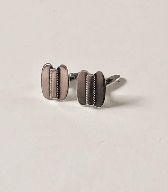 1965 Sterling Silver Dansk Guldsmede-Håndværk Danish Silver Cufflinks (Dansk Guldsmede Handvaerk)