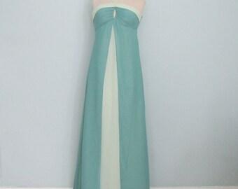 Green Evening Gown, Green Prom Dress, XS Evening Gown, Red Carpet Dress, Pageant Dress, Long Bridesmaid Dress, Strapless Formal
