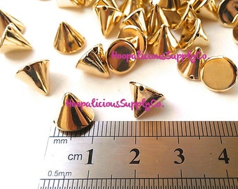 25pc Acrylic Studs. Sew or Glue. 12mm Cone Studs. Choose Silver, Gold, Brass, or Gun Metal. FAST Shipping w/ Tracking 4 Domestic Orders.