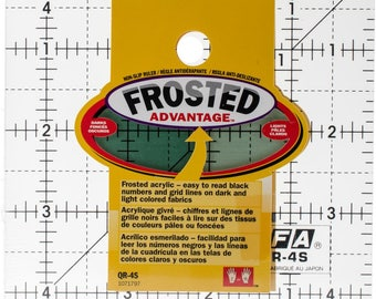 OLFA Frosted Advantage Non-Slip Grid Ruler #QR-9S