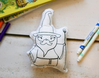 Wizard Doll Coloring Book Toy Fair Tale Play Gift for Kids