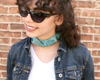 Teal Choker - Gift For Her - Hipster Necklace - Silk Choker - Hipster Clothing -  Teal Isabela Choker. 11