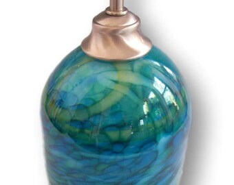 Ocean Blues....Hanging Art Glass Pendant Light by Rebecca Zhukov