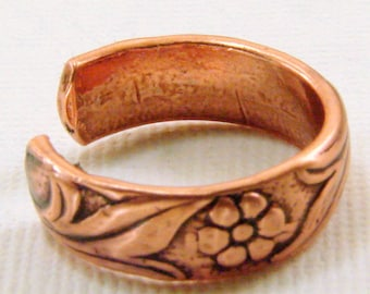 Copper Toe Ring or Finger Ring - Any Size
