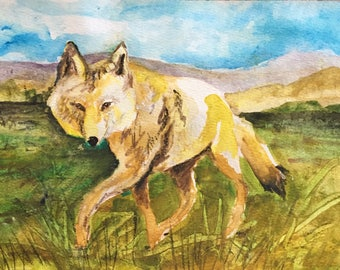 Coyote Art card