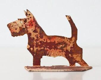 Vintage Red Dog - Scottish Terrier, Scottie Bookend