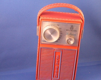 Vintage 70's Little Cool WELTKLANG collectible Transistor Radio (superlight HiPower)