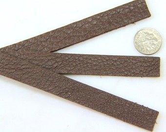 """Leather Straps, TierraCast, Leather Straps, Leather Strips, Textured Brown Color, 1/2""""x10"""",  Bracelet Leather, Leather Crafts, 1 Pieces"""