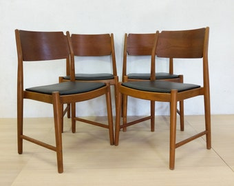 Set of 4 Vintage Danish Modern Dining Chairs - Free NYC Delivery!