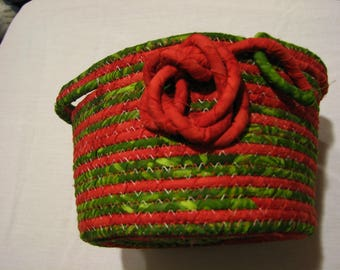 Round Coiled Rope Basket