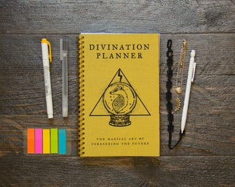 Medium Monthly Planner (120-Pages) | 24 Months | No Weekly Pages | Yellow Divination Planner
