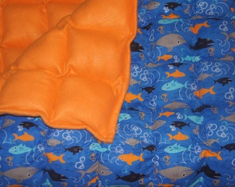 Fleece or Minky Weighted blanket for Toddler Bed/small (40x55) Available in Multiple Fabrics