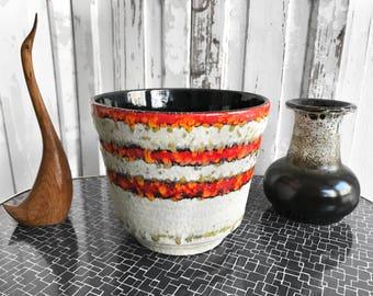 1970 Übelacker Fat Lava flower pot/70s flower pot ü-Ceramics