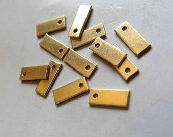 100pcs Raw Brass Rectangle Stamping ,Stamping Tag,Charms 12mm x 5mm - F376