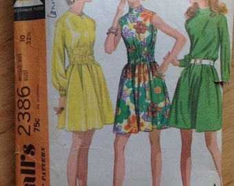 Vintage McCall's 2386 Dress - size 10 or 14