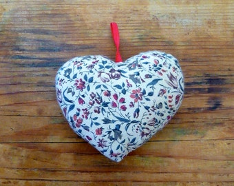 Stuffed Cloth Heart Ornament
