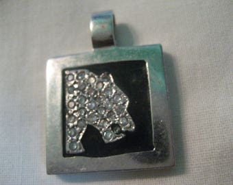S 9.2 PUMA SILVER Pendant with Cubic ZIRCONIA 925 Sterling Silver