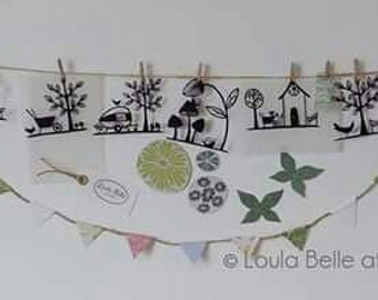 Set of 4 original mini papercut templates by Loula Belle at Home