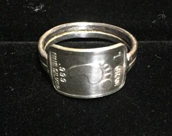 Silver ingot ring (barefoot design)
