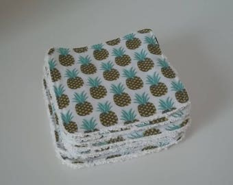 """Washable cotton print """"pineapple"""", and Terry cloth"""