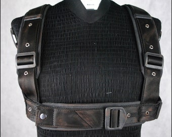 Harness made of cordura and leather