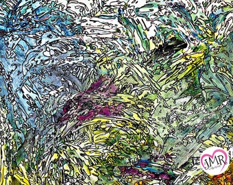 Untitled 4 Abstract Mixed Media Original Painting by J.M.Roth