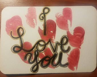 I love you Valentine's Day Postcard