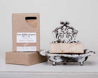 Olive Oil Soap, Tobacco & Vanilla Soap, Vegan Soap, 4.5 oz., made with organic oils  by Green Bubble Gorgeous on etsy